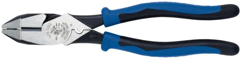 "Klein J2000-9NECR 9"" Journeyman HD High-Leverage Side-Cutting Pliers - Crimping"