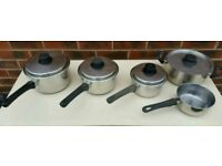 Set of 5 Stainless Steel Pans
