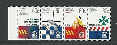 1 set 2010 Emergency Services strip of 4 CTO (45)