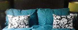Set of 2 New Oblong Plump Black & White Large Print Decorative Cushions[45cmx35cm].