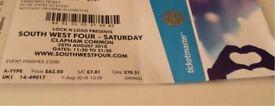 SW4 South West four ticket , SW4 Saturday ticket