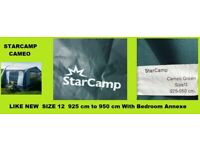 Caravan Awning Starcamp Cameo And Bedroom Size 12 925 cm to 950 cm