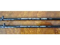 PAIR OF DRENNAN CARBON QUIVER TIPS. 5oz AND 6oz TEST CURVES. PRE-OWNED, V.G.C.
