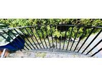Juliet Balcony, 2400mm, Black Powder Coated Steel