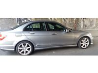 Mercedes c220 sports automatic silver disel blue eficiency saloon