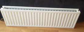 NEW Double radiator heater heating 1400mm by 450mm tv draw wa door shelf towel bath shower bed room