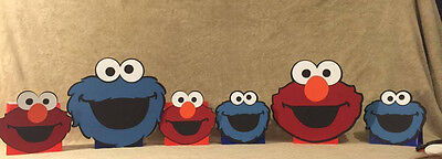 Elmo or Cookie Monster Balloon Centerpieces. Happy Birthday Party - Elmo Centerpieces