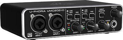 BEHRINGER UMC202HD 2x2 24bit/192 khz Recording USB Audio Interface MIDAS preamp