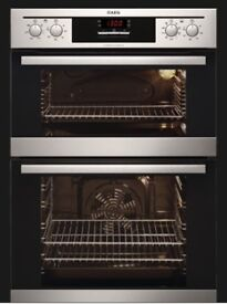 NEW AEG Electric Built-in Fan Double Oven (DE4013021M) Stainless Steel + 2 yr manufactures warranty
