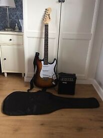 guitar 6 string electric in mint condition everything in picture is included.
