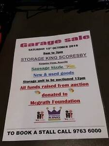 GARAGE SALE /WAREHOUSE SALE STORAGE UNIT AUCTIONS Rowville Knox Area Preview