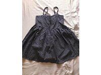Navy Polka dot summer dress, size 18