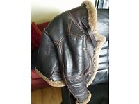 Genuine Irvin Leather Flying Jacket - Size 36