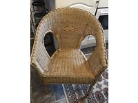 IKEA Large size wicker chair in perfect condition