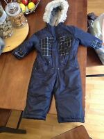 6-12 month one piece snowsuit