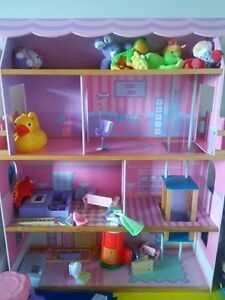 Wooden Doll House - Barbie sized