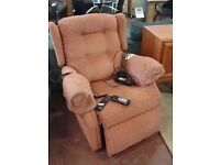 Electric riser/recliner with massage settings (delivery available)