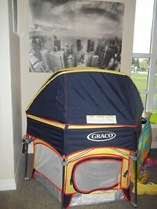 Graco playpen with canopy dome