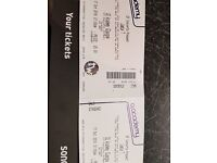 Jamie T tickets for 02 Glasgow 17 October (face value).