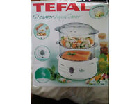 VEGETABLE STEAMER, TEFAL, NEW, PEACEHAVEN