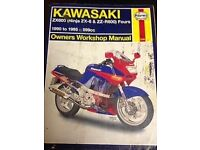 Haynes Kawasaki ZX600 ZZ-R600 & Ninja ZX-6 1990-2006 Motorcycle Workshop Manual