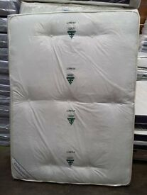 Brand New 5ft Kingsize Quilted Comfy Mattress in White FREE Delivery Tufted Fabric