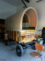 Oak Covered Show Wagon with removable cover for Haflingers