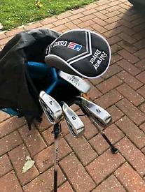 Kids left hand golf clubs.