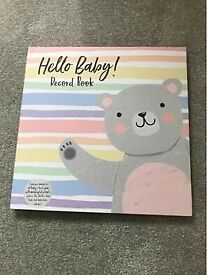 Brand new baby record book