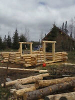 Handcrafted Log A-Frame shell
