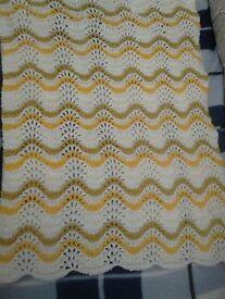 Hand Knitted Pram Blanket