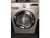 Reconditioned silver LG 8kg 1200 spin washing machine