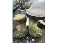 Stone plant pot stands - £12 (bh10 Wallisdown)