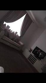 3&2 crushed velvet sofa