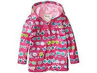 HATLEY Girls Sunglasses Raincoat / Rain Jacket, Pink, 6 Years, VERY GOOD CONDITION