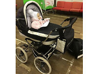 Bargain! BebeCar combi pram, from birth, includes pushchair, carrycot, raincover & accessories,.