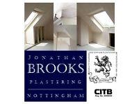 Plasterer Nottingham 07818290654 Jonathan Brooks Plastering 01158226344