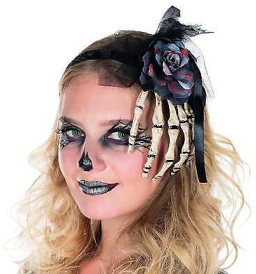 Skeletthand Haarreif Accessoire Halloween Zombie Tag der Toten