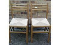 Pair of ratten chairs