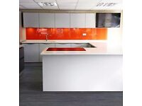 EX-DISPLAY-MACKINTOSH KITCHEN IN LIGHT GREY MATT WITH FACTORY FITTED HANDLE