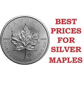 1 oz Silver Maples! Guaranteed Lowest Prices in London!