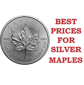 1 oz Silver Maples at Lowest Prices in London!