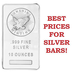 10 oz Silver Bars For Sale! Guaranteed Lowest Prices in London!