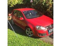 mk5 vw golf gti, red , great condition