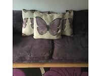Purple Butterfly 2 long seater sofa - good but used condition. Needs collecting asap