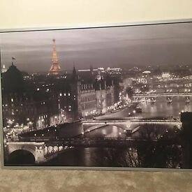Large Paris landscape Canvas
