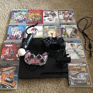Playstation 3, 2 controllers, games and more