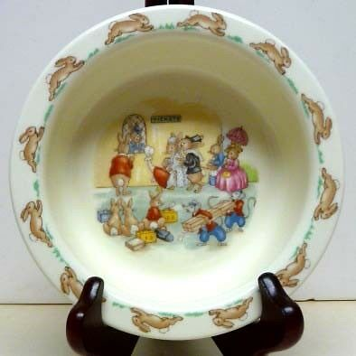 Cereal Dish - ROYAL  DOULTON- BUNNYKINS CEREAL DISH- AT  THE TICKETS BOOTH-EXCELLENT COND.
