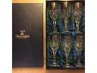 BNIB 6 Gleneagles crystal wine glasses