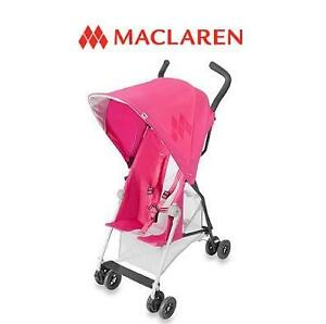 NEW MACLAREN MARK II STROLLER CARMINE ROSE 99728535